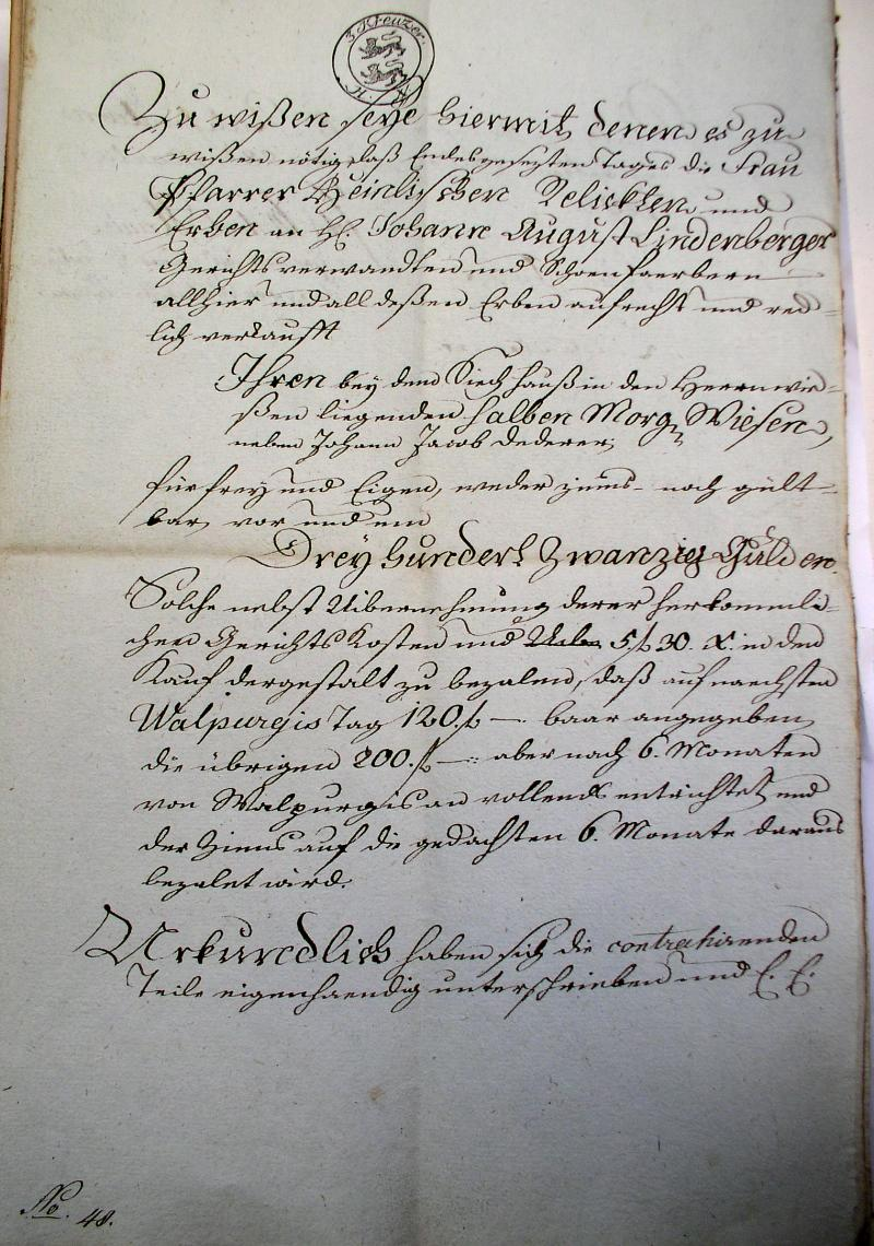 Kauf-Brief 1792